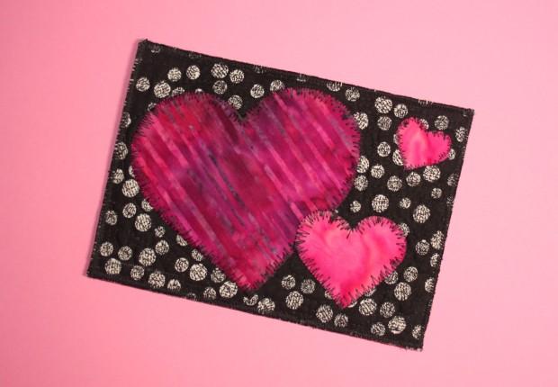 black-pink postcard
