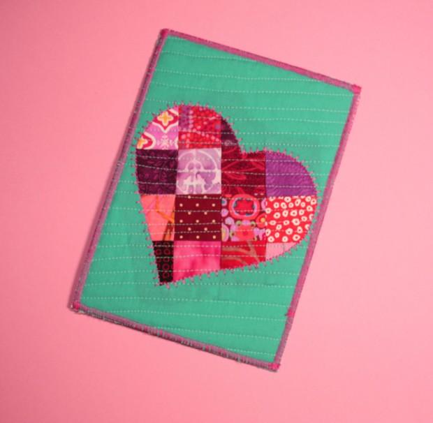 patchwork postcard