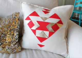Aztec Heart Pillow - My Sister's Suitcase