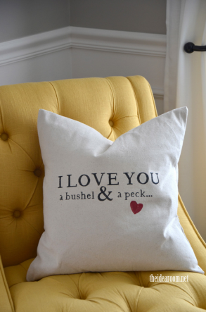 Bushel and a Peck Pillow - The Idea Room