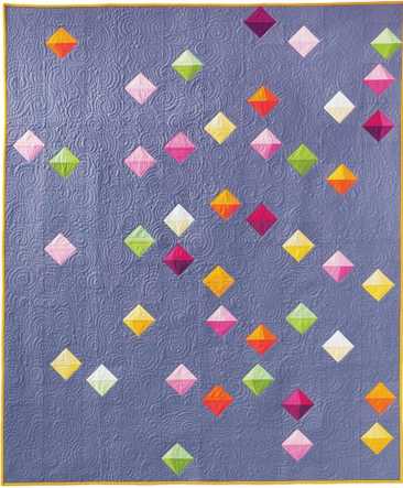 Floating Prisms Quilt by Robert Kaufman