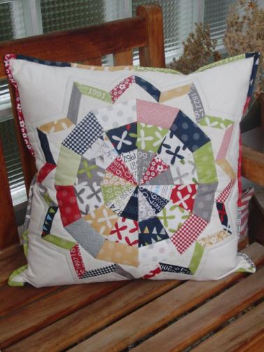 Star Flower Pillow - Tacha Bruecher for Moda Bakeshop