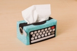 Typewriter Tissue Box Cover
