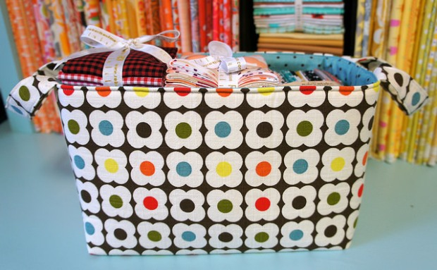 The Hour Basket by Angela Pingel - Uses Flex-Foam 1-Sided Fusible
