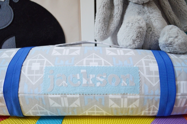 The Jackson Nap Mat by Pellon Projects for Hancock Fabrics - Uses Flex-Foam Sew-In or Flex-Foam 1-Sided Fusible