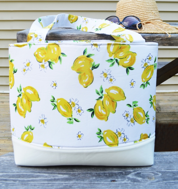 The Simple, Sturdy Tote - a pattern by Amy Smart, adapted to use 1-Sided Fusible Flex-Foam