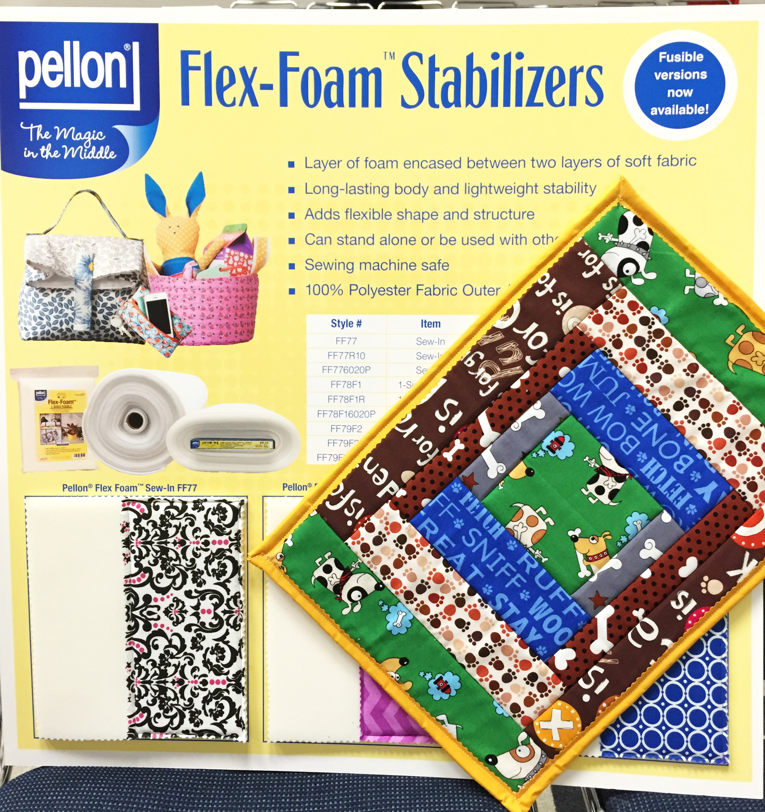Flex-Foam Fusible Stabilizer One-Sided Polyester Natural Lightweight 20 x 10yd